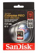 SanDisk SDHC Extreme PRO 16GB 95MB/s 633X Speicherkarte