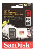 SanDisk microSDHC Extreme 16GB 60MB/s 400x Speicherkarte
