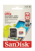 SanDisk microSDXC Ultra 64GB 80MB/s 533x Speicherkarte