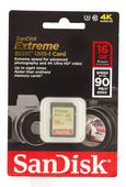 SanDisk SDHC Extreme 16GB U3 90MB/s 600x Speicherkarte
