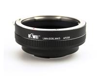 KIWIFOTOS LMA-EOS-M4/3 Objektiv-Mount-Adapter für Canon EF-Objektiv an Micro 4/3 Montagekörper