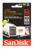 SanDisk microSDXC Extreme 64GB 90MB/s 600x Speicherkarte