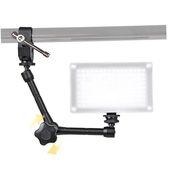 11'' Adjustable Magic Arm + Super Clamp for DSLR LCD Monitor, LED Light, Camera Accessories