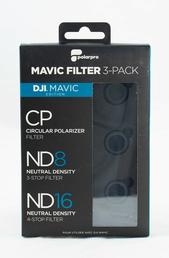 PolarPro Filter 3er Pack für DJI Drohne Mavic, ND8 ND16 Neutraldichte, Polfilter