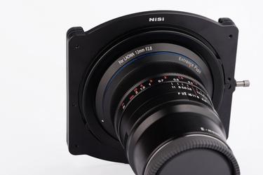 NiSi Filterhalter 100mm System für Laowa 12mm f/2.8 mit 86mm CPL Pol Filter