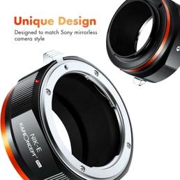 KF Adapter PRO, Nikon F Objektive auf Sony E, NEX 3, 5, 6, 7, a6000 a5000 a7 a7r